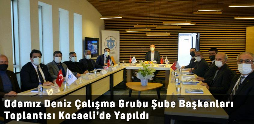 Deniz  Turizmi Çalışma Grubu Şube Başkanları Toplantısı Kocaeli'de Yapıldı